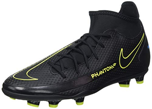 Nike Herren Phantom GT Club Dynamic Fit MG Football Shoe, Black/Black-Cyber-Light Photo Blue, 45 EU