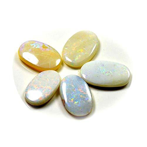 Jewelryonclick Naturel Australie Opale De Feu Total 15 Carat 5 Pcs Vrac Lot De Pierre Ovale Pour La Fabrication De Bijoux