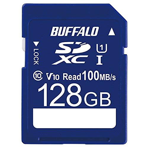 バッファロー SDカード 128GB 100MB/s UHS-1 スピードクラス1 VideoSpeedClass10 IPX7 Full HD データ復旧サービス対応 RSDC-128U11HA/N