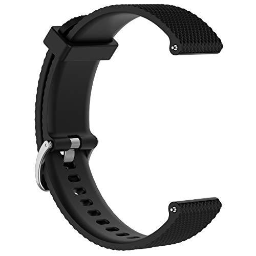 AWADUO Correa de repuesto compatible con Polar Vantage M, correa de silicona de repuesto para reloj Polar Vantage M GPS, suave y duradero (silicona negra).