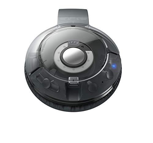 TCL MTRO200BT Wireless On-Ear Kopfhörer mit Mikrofon (Bluetooth 4.2, geräuschisolierend, faltbar, Leder-Ohrpolster, integrierte Fernbedienung und Mikrofon, 20 Stunden Spielzeit), Shadow Black