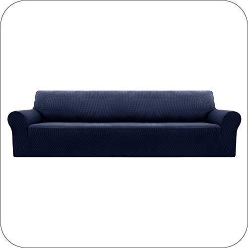 UMI. by Amazon Funda Elastica para Sofa Ajustable 4 Plazas Azul Marino