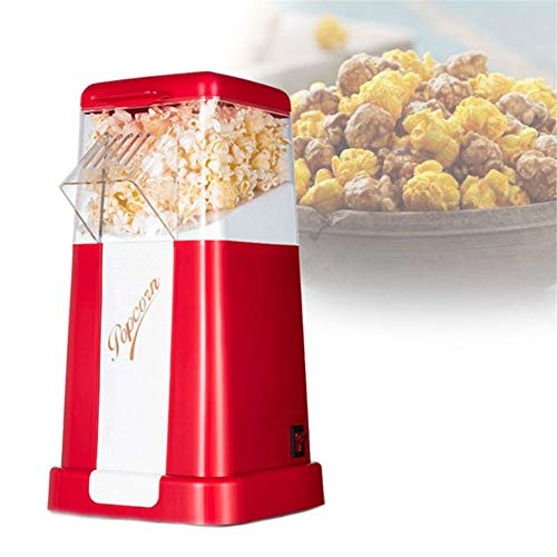 Lowest Price! ZAAQ Automatic Popcorn Maker Machine US/EU Plug for Home Powerful Fat Free Quick Prepa...