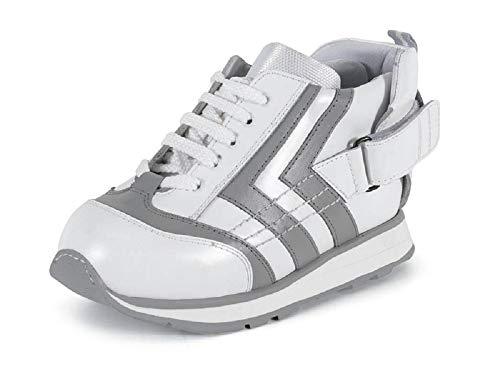 Zapatillas DAFO niños CALZAMEDI, APARATOS,piel gris/blanco, capacidad plantillas. Mod.4123