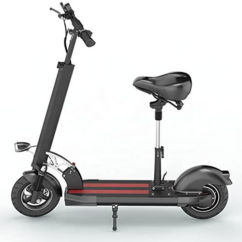 """Fly YUTING Scooter eléctrico Adulto 500W Motor Speed 30km / h Doble Unidad 11""""Off Road Route CST Plegando Scooter de Desplazamiento con Asiento"""