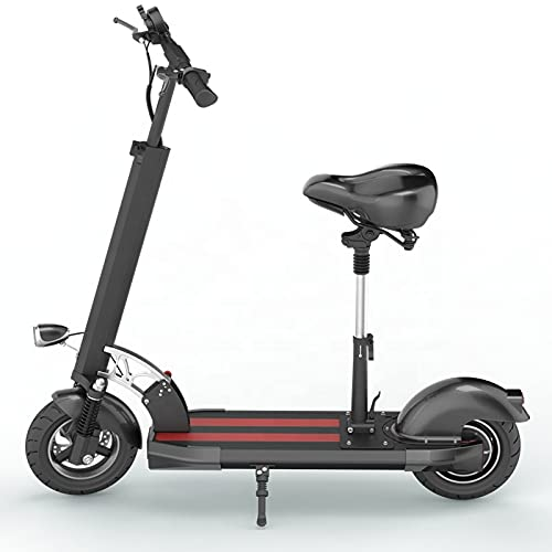 Fly YUTING Scooter eléctrico Adulto 500W Motor Speed 30km / h Doble Unidad 11'Off Road Route CST Plegando Scooter de Desplazamiento con Asiento