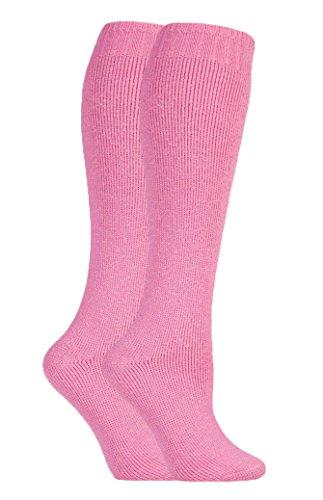 David James - mujer 2 pares invierno calientes grusos largos vistoso calcetines lana para...