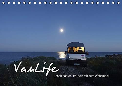 Vanlife - Leben, fahren, frei sein mit dem Wohnmobil (Tischkalender 2020 DIN A5 quer): Camping im Van - schön und frei (Monatskalender, 14 Seiten ) (CALVENDO Natur)