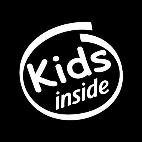 unknow 15.5X14.8CM Kids Inside Lustiger schwarz/silberner Vinyl-Aufkleber Autoaufkleber Auto-Styling