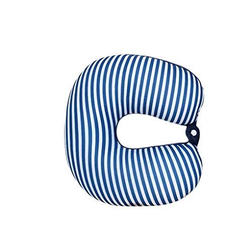Topker En Forma de U Almohada de Viaje de sueño reparador Perlas de poliestireno Cuello Almohada para el Aeroplano del autobús del Coche de Tren