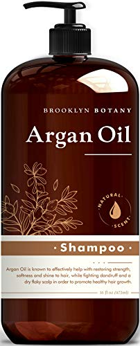 Brooklyn Botany Moroccan Argan Oil Shampoo – Nourishing and Volumizing – Helps Restore Damaged Hair and Reduce Hair Breakages and Split Ends – Promote Healthy Hair Growth and Thickening - 16 oz