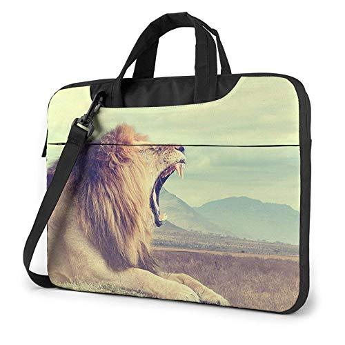 El león Africano Salvaje imprimió el Bolso de Hombro del Ordenador portátil, maletín del Bolso de Mensajero del Negocio del Bolso de la Caja del Ordenador portátil