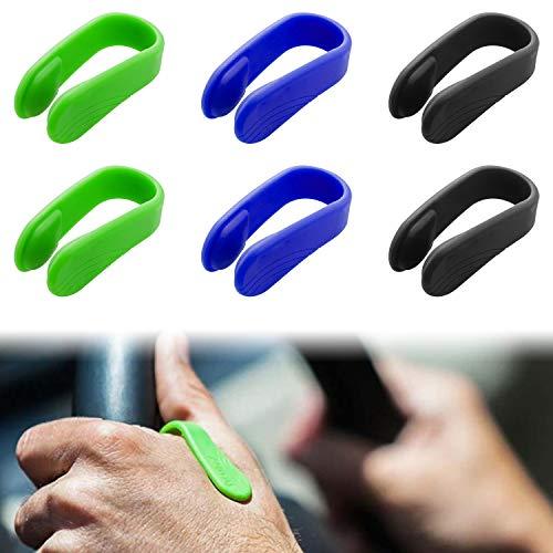 Handflächen-Akupressur-Clip, 6 Packungen Tragbares Handflächen-Druckclips-Kit Silikon-Naturhandmassagegerät, die LI4-Akupressur-Handflächenübung zur Migräne-Linderung Natürlicher Spannungsabbau
