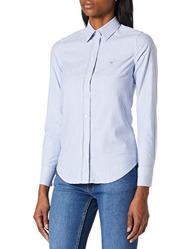 GANT Damen Stretch Oxford Banker Shirt Bluse, Nautical Blue, 32
