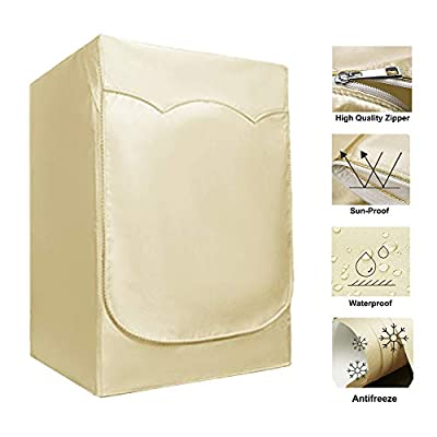 """Washer/Dryer Cover for Front-loading Machine - Waterproof, Dustproof, Sun-Proof, W27""""D33""""H39""""Suitable for most Washers/Dryers on US and Canadian market(Gold)"""