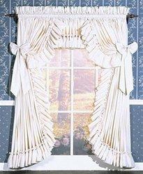 Pauls Home Fashions Carolina Country Priscilla Curtain 200W x 63L Natural