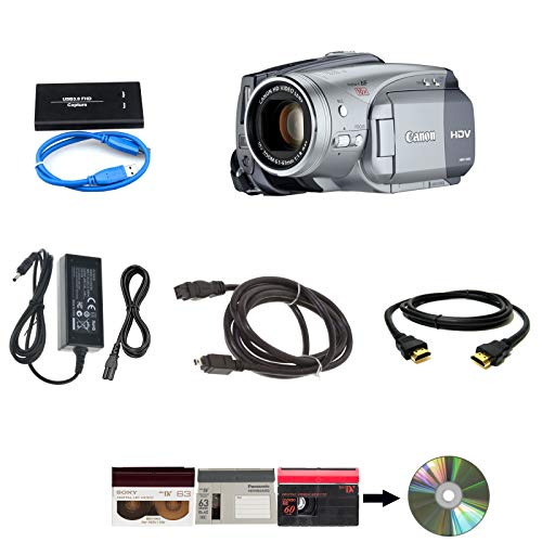 Canon Camcorder for miniDV Tape Transfer to Computer USB and DVD (HDV)
