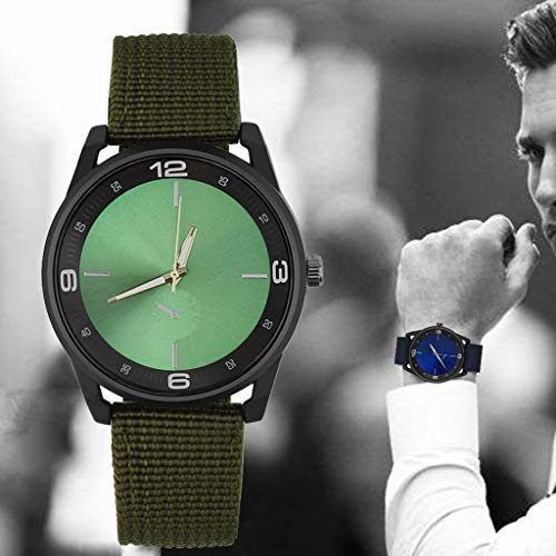 2019 Men Nylon band Military watch Gemius Army watch Quartz Movement Men sports watch Casual wristwatches (Green)