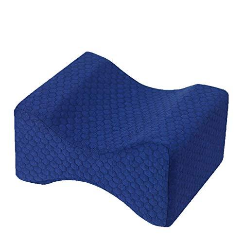 Caroline Philipson Comfortable Memory Foam Pillow Mat Under Knee Sleep Pillow Orthopaedic Posture Support Cushion Leg – Navy Cyan