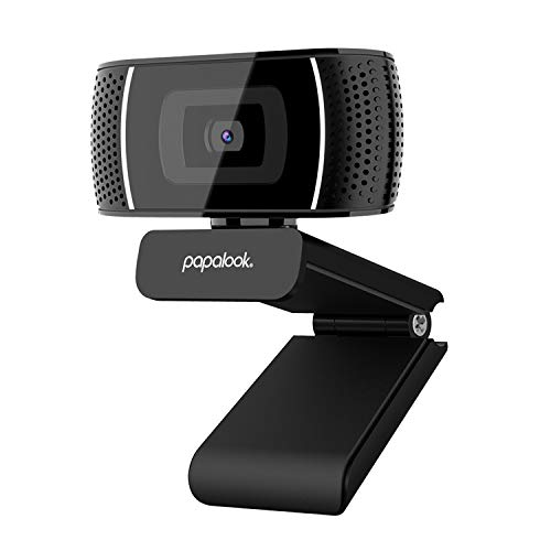papalook PA327 HD Webcam mit Mikrofon, 720p Web-Kamera, Plug-and-Play, Desktop-Kamera, Laptop, USB-Webcam für Videokonferenzen, Online-Arbeit, Home Office, kompatibel mit Winows 7/8/10 Mac