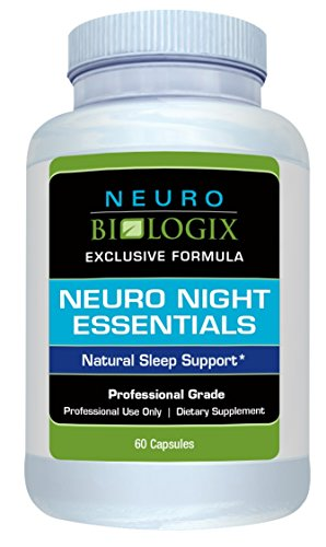 Neurobiologix Neuro Night Essentials Natural Sleep Supplement - GABA and Melatonin Support for Better Sleep Aid, Insomnia, Calm & Peaceful Mind, Anxiety, Stress (60 Capsules)