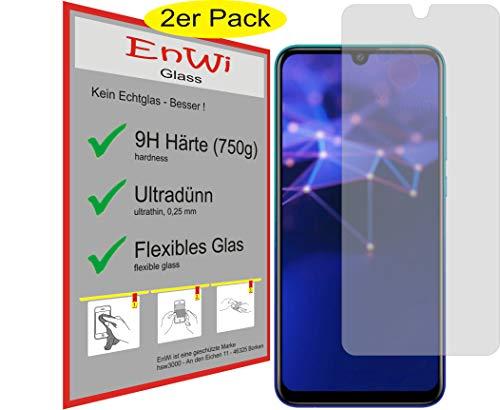 EnWi   2X Panzer-Glas-Folie 9H Bildschirm-Schutz-Folie für Huawei P Smart 2019
