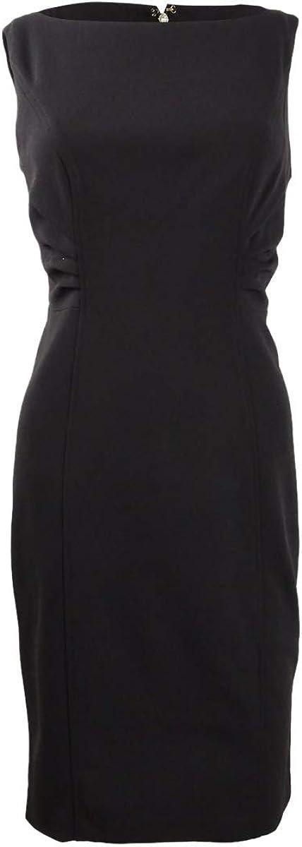 DKNY Women's Whisker Pleat Sheath Dress