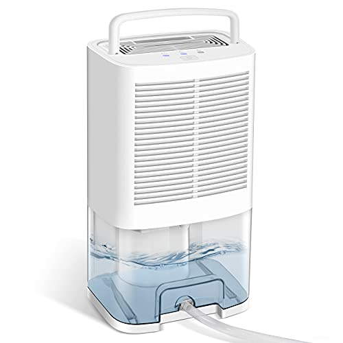 Gocheer Upgraded Dehumidifier for Home 550 Sq.ft Dehumidifiers with Drain Hose for Basements and Bathroom Remove Humidity for Bedroom Closet Kitchen Garage RV with 2000ML (64oz) Water Tank