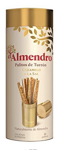 El Almendro Palitos De Turrón De Almendra Y Caramelo A La Sal - 136 Gr