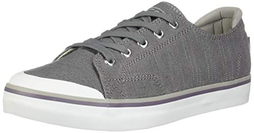 KEEN - Women's Elsa III Canvas Sneaker for Casual Everyday Use, Steel Grey, 8.5 M US