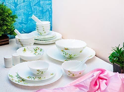 LaOpala Opalware Dinner Set - 47 Pieces, White