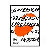 Moderno Retro Hilma Master exposición póster impresiones Hein cara abstracta pared arte imagen familia sin marco lienzo pintura E 40x60cm