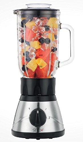 Standmixer Glas Edelstahl Smoothie Maker Mixer Ice Crusher Universal Mixer Shaker Blender
