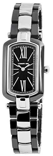 Cerruti Damen Analog Quarz Uhr mit Keramik Armband CRN009Z221B