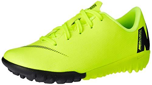 Nike Unisex-Kinder Jr. MercurialX Vapor XII Academy Turf Fußballschuhe, Schwarz (Volt/Black 701), 28.5 EU