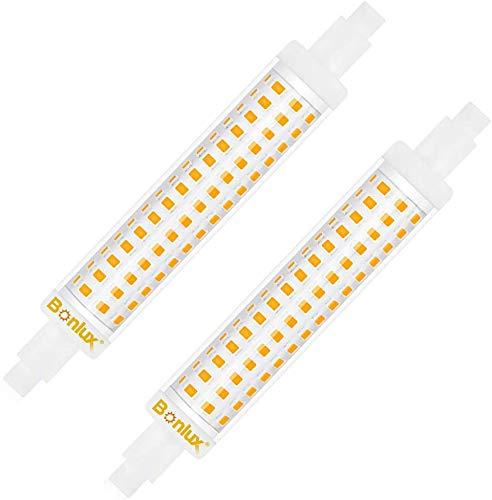 Bonlux 15W R7S LED Lampe Birne 118mm Glühbirne 220V Kaltweiß 6000K Doppelsokel Linear Tube Licht 360° Abstrahlwinkel Ersatz zu 150W Halogenlampe(2 Stück, Nicht Dimmbar)
