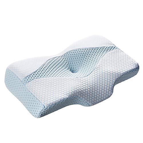MyeFoam 枕 安眠 肩がラク 低反発 まくら 中空設計 頭・肩をやさしく支える 低反発枕 仰向き 横向き プレゼント 洗える ブルー