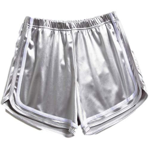 Mujer Pantalones Cortos Moda Todo fósforo Brillante Elástico Entrenamiento Correr Baile Ropa Deportiva Salón Perneras Anchas XL