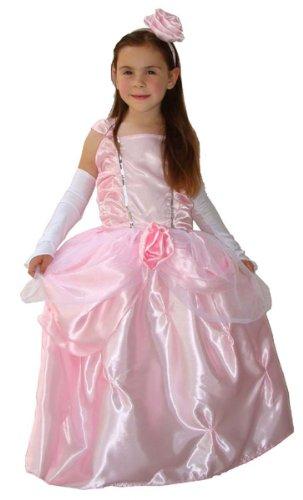 MAYLYNN 12316-M - Kostüm Prinzessin Rosenblüte mit Handschuhen und Diadem, Größe:M ca. Gr. 122 128