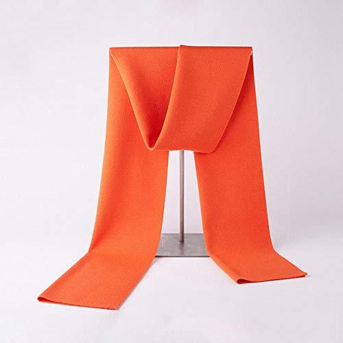 WEIJNS Wollschal Herbst Und Winter Männer Warm Einfarbig Lätzchen Lässig Im Freien Kalt Geschäftlich Geschenke Orange 30 * 180Cm