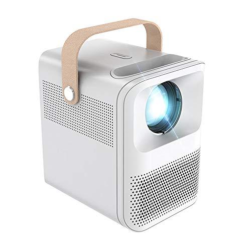 Proyectores, Mini Portátil, Alta Definición para Oficina De Entretenimiento En El Hogar, Resolución 1080P, Imagen De Corrección Trapezoidal, LED Inteligente Inalámbric