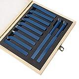 11 Uds Micro torno herramienta conjunto de herramientas de torno soporte de herramientas buje herramienta de torno de carburo para CNC para máquinas de torneado CNC para(12 * 12mm)
