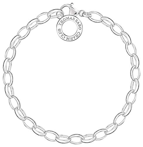 Thomas Sabo Women-Charm Bracelet Charm Club 925 Sterling Silver Length 18,5 cm X0031-001-12-M