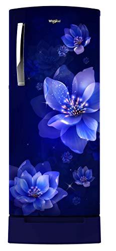 Whirlpool 200 L 4 Star Inverter Direct-Cool Single Door Refrigerator, Sapphire Mulia, Base Stand