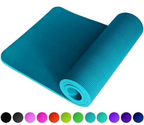 NEU Fitnessmatte Petrolblau Petrol Petroleum Mineral Blau Blue Fitness Gymnastik Sport Turnen Pilates 1,5 cm dick weich 183 x 61 Trageband rutschfest Yogamatte Gymnastikmatte Unterlage ReFit