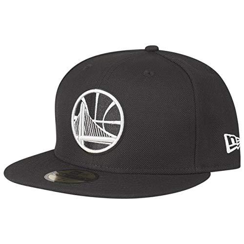 New Era 59Fifty - Cappellino Aderente NBA Golden State Warriors, Colore: Nero, Unisex - Adulto Bambino, Nero, 8