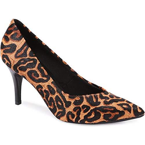 Bellissimo Mujer Zapatos De Salón De Cuero Stiletto Leopardo 36 EU