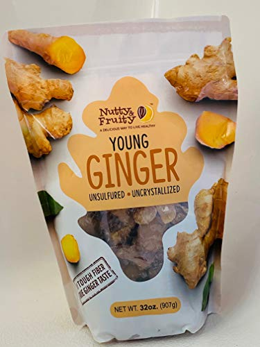 Nutty & Fruity Young Ginger Cubes (Packaging May vary) from Food Castle Inc