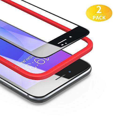 BANNIO für Panzerglas für iPhone 7/iPhone 8/iPhone SE 2020,2 Stück 3D Full Screen Panzerglasfolie Schutzfolie für iPhone 7/iPhone 8/iPhone SE 2020,9H Härte Displayschutzfolie,Blasenfrei,Schwarz