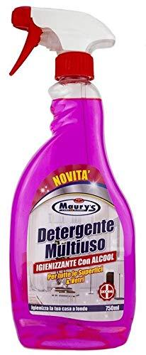 MAURY'S Spray 750ml Multiuso Igienizzante con Alcool per Tutte Le Superfici e i Vetri della Tua Casa